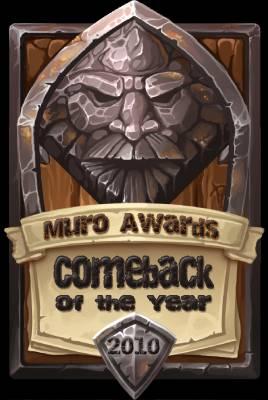 Comeback Strolenite of the Year 2010