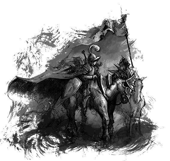 Rough Sketch of Knight on Horse